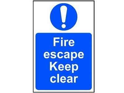 Fire Escape Keep Clear Sign PVC 200 X 300  • 9.95£