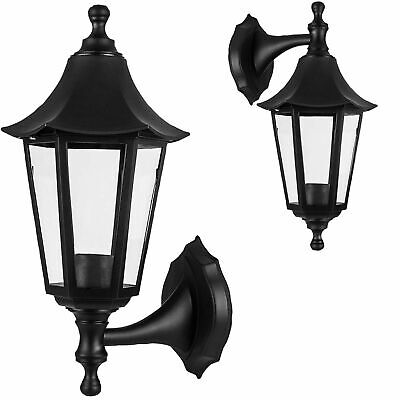Wall-Mounted Outdoor Lantern Style Lamp Garden Light 270x155 Black • 10.83£