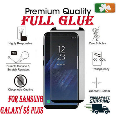 AU15.49 • Buy Samsung Galaxy S8 Plus CASE FRIENDLY 4D Clear HD Tempered Glass Screen Protector