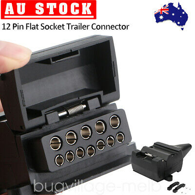 AU14.59 • Buy 12 Pin Flat Female Socket Connector Car Caravan Camper Trailer 4WD 12V Quick Fit