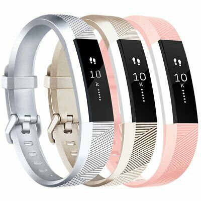AU18.36 • Buy 3 X Fitbit Alta HR Bands Fitness Watch  Strap Silver Gold Pink S