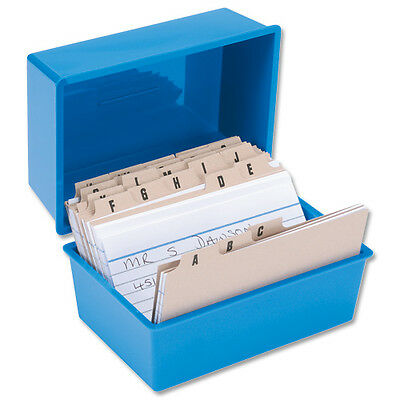 £15 • Buy RECORD CARD BOX + 300 CARDS + INDEX ~ 5x3~ 127x76mm SET ~  BLUE © RC53