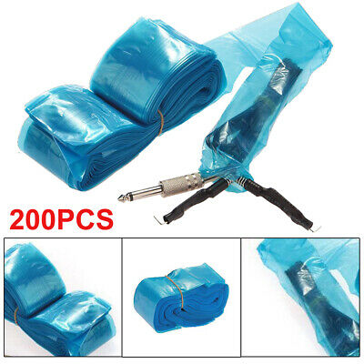 200Pcs Tattoo Machine Clip Cord Sleeves Cover Bags Clean Safety Supply UK • 5.99£
