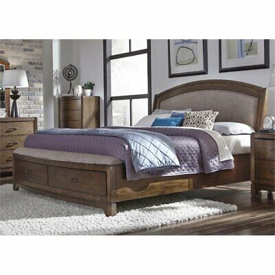 $753.56 • Buy Bowery Hill Queen Storage Bed In Pebble Brown