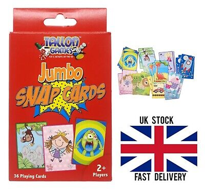 Tallon Jumbo Snap Cards Pack Of 36 Playing Cards Kids Children Card Game • 2.65£