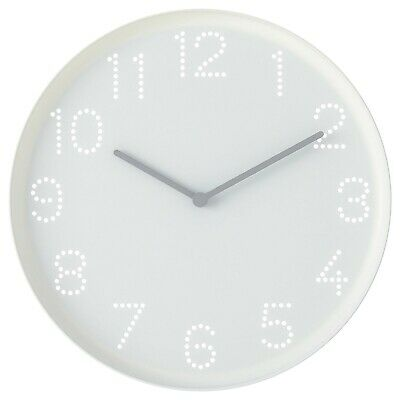 AU15.50 • Buy IKEA STOMMA Quartz Wall Clock 20cm White For Home Office Kitchen Bedroom Living