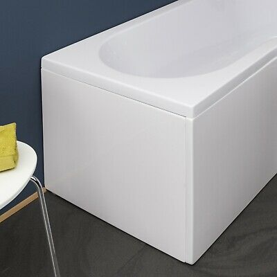 Modern Bathroom End Bath Panel For P Shaped Shower Bath White Finish Easy Clean • 40.99£