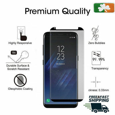 AU15.83 • Buy Samsung Galaxy S8 CASE FRIENDLY 4D Clear HD Tempered Glass Screen Protector