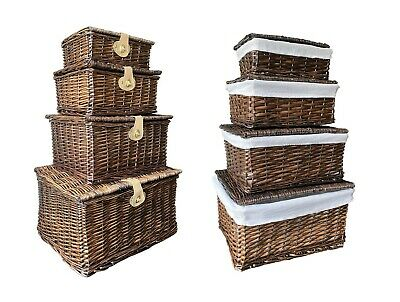 Strong Oak Wicker Picnic Gift Storage Xmas Christmas Empty Hamper Basket Gift • 18.99£