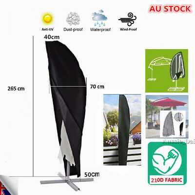 AU21.59 • Buy Outdoor 265CM Parasol Umbrella Cover Cantilever Banana Parasol Cover Waterpr