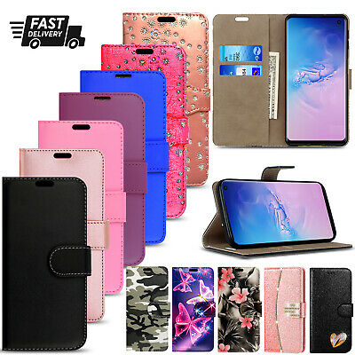 For Samsung Galaxy S8 S9 S20 Plus S7 Edge Case Cover Leather Wallet Book Phone • 2.95£