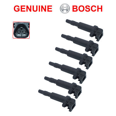 $ CDN157.83 • Buy NEW BMW Ignition Coil 6 Pack Updated W/ Connector Boot Genuine Bosch 0221504470
