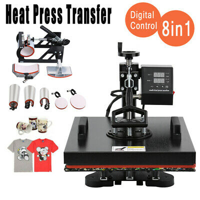 AU278.89 • Buy Ridgeyard 8 In 1 Digital Heat Press Transfer T-Shirt Mug Hat Sublimation 12x15
