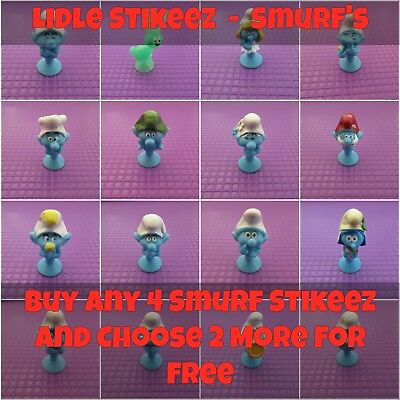 Lidl Stikeez - Smurf The Lost Village 2017 Characters - Choose Ones Needed *New* • 1.89£