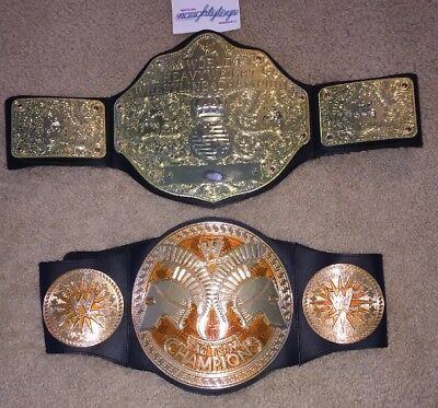 $33.99 • Buy WWE Lot Jakks World Heavyweight Championship Belt & Tag Team Belt Kids Size VTG
