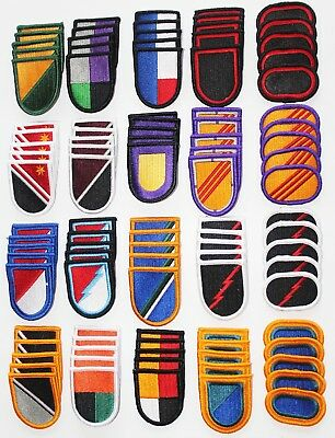 $32.83 • Buy Lot Of 100 Army Insignia Flash & Oval Military Beret Multicolor Patches - 100A