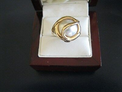 $399 • Buy MABE PEARL 14K YELLOW GOLD RING SIZE 6-Beautiful