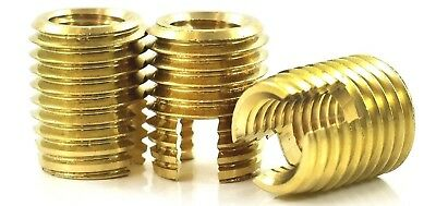 £4.49 • Buy Threaded Brass Inserts Self Tapping Nuts For Plastic & Alloy M3 M4 M5 M6 M8 M10