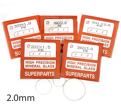 £3.99 • Buy Quality Watch Glass Mineral Crystal Face Flat Round 2mm Thick, Ø 16.1mm To 45mm