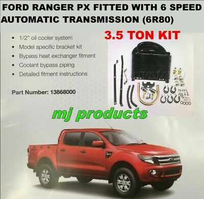 AU635 • Buy Ford Ranger PX  6 Speed  (6r80)  Automatic Transmission Oil Cooler Kit 3.5 To...
