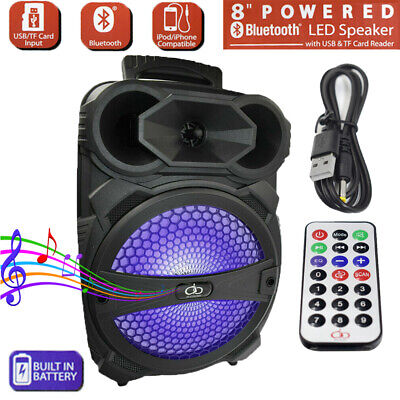 $38.99 • Buy 8  Party Bluetooth Speaker 1000 Watts System Led Portable Stereo Tailgate Loud