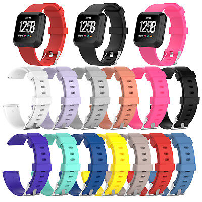 $ CDN5.27 • Buy For Fitbit Versa Watch Replacement Silicone Rubber Classic Band Strap Wristband