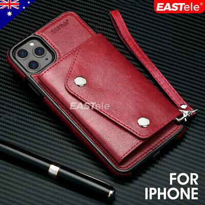 AU8.99 • Buy NEW IPhone 11 Pro XS MAX XR 8 7 Luxury Leather Wallet Card Shockproof Case Cover