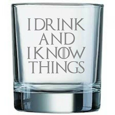 £9.95 • Buy Game Of Thrones Inspired  I Drink And I Know Things  Whisky Tumbler Glass