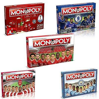 £19.97 • Buy Monopoly Board Game Football Editions Premier League & Fifa World Cup Editions