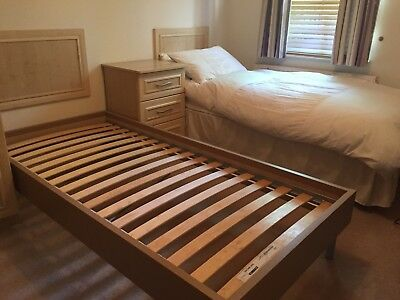 2 Wooden Single Beds- Everything Included! Very Good Condition.  • 380£