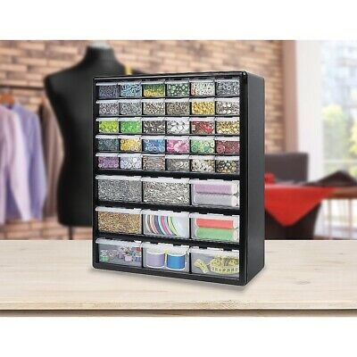 AU58.95 • Buy Storage Cabinet Drawers 39 Plastic Tool Box Containers Organiser Cupboard