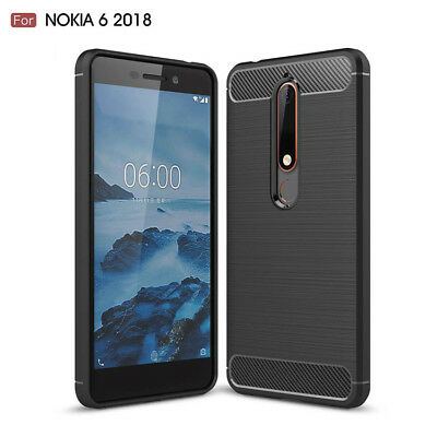 AU7.99 • Buy NOKIA 6.1 / 5.1 / 5.1 Plus /7.1 /8.1 Shockproof Carbon TPU Cover Anti Knock Case