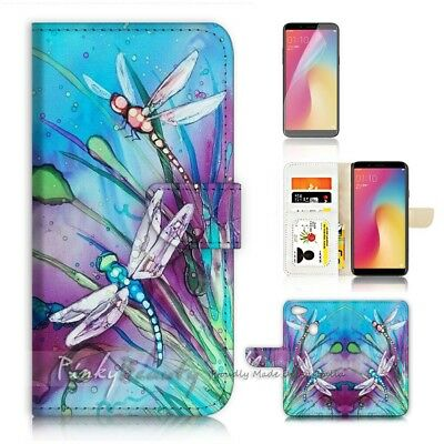 AU12.99 • Buy ( For Oppo A73 ) Flip Wallet Case Cover P21094 Dragonfly