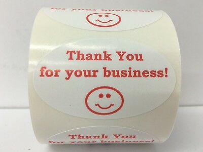 $8 • Buy Thank You For Your Business Mailing Labels (1.25 X2  Red/Wh Oval, 500 Stickers)