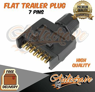 AU9.75 • Buy NEW 7 Pin Flat Trailer Plug Caravan Boat MALE Connector Single Part Adapter Plug