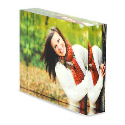 £13.99 • Buy Personalised Acrylic Photo Block Frame Valentines Day Mothers Fathers Girlfriend