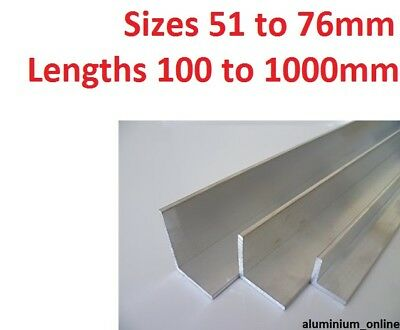 £9.75 • Buy ALUMINIUM ANGLE UNEQUAL 51mm 57mm 63mm 76mm  L Profile Select Size In Listing
