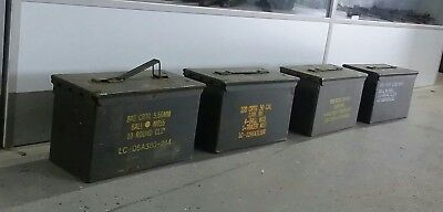 $58.99 • Buy US Military Surplus 50 CAL M2A1 Ammo Can LOT OF 4  Airtight Steel 12x6.5x7.5