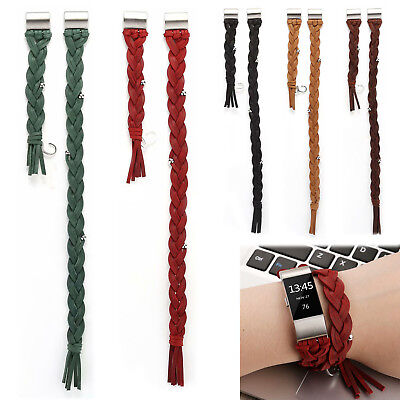AU19.99 • Buy Handmade Woven Genuine Leather Band For Fitbit Charge 2 Retro Belt Charge2 Strap