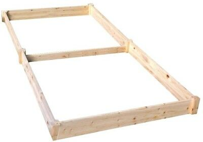 Raised Garden Bed 4 Ft. X 8ft. X 5.5 In. Rectangle Wood Expandable Rot Resistant • 71.34£