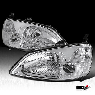 $68.99 • Buy For 2001-2003 Honda Civic LX EX 2/4 Dr JDM Headlights Clear Driving Head Lamps