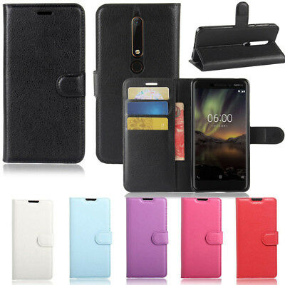 AU7.29 • Buy Premium Leather Wallet Flip Phone Case Cover For Nokia 7 Plus +FREE Screen Guard