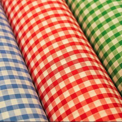 £4.50 • Buy 1/4  Check Corded Gingham Dress Fabric, Aprons, Tablecloth Schools 44 Wide M30