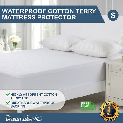 AU28 • Buy Waterproof Mattress Protector Cotton Terry Towelling Fully Fitted Cover All Size