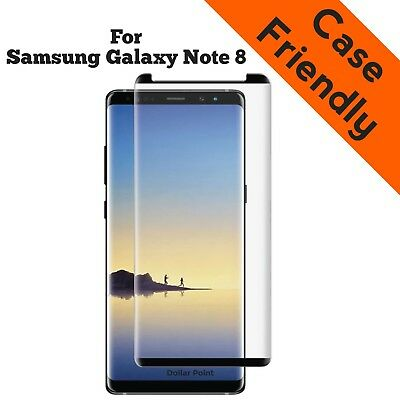 $ CDN4.84 • Buy For Samsung Galaxy Note 8 Case Friendly 3D BLACK Tempered Glass Screen Protector