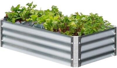 Raised Garden Bed 22 In. X 40 In. X 10 In. Rectangle Galvanized Metal Expandable • 65.54£