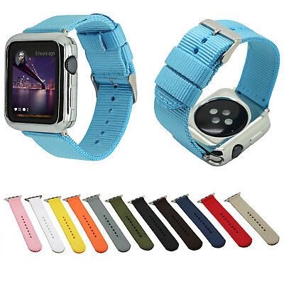 AU15.12 • Buy Sport Nylon Fabric Waterproof Strap For IWatch Series 5 4 3 2 1 Apple Watch Band