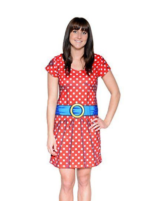 £7.45 • Buy Ladies Adult Real Cartoon Spotty Fancy Dress Outfit Doll Costume Comic Halloween