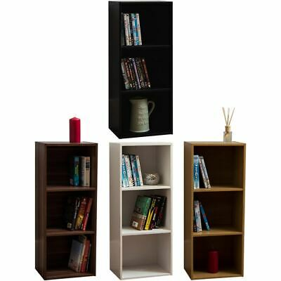 Oxford 3 Tier Cube Bookcase Display Shelving Storage Unit Wooden Stand Shelves • 16.95£