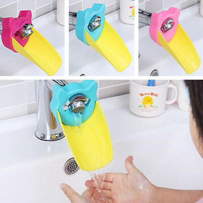 $6.99 • Buy Tap Faucet Extender For Baby Washing Children Silicone Bathroom Sink Extending